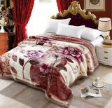 Wholesale Polyester Carved Raschel Acrylic Blanket