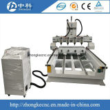Multi Heads Wood CNC Engraving Machine with Rotaty Attachments