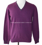 100% Cotton Cable Knitting Long Sleeve Men Clothing (KH10-239)