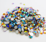 Flat Back Rhinestone Ab Color Non Hotfix Crystal for Decorate (FB-ss12/Gold AB)