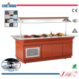 Marble Table Wooden Body Cooler Salad Bar