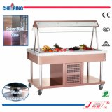 Open Type Display Cooler Salad Bar for Buffet