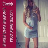 Lady Jersey Sweatshirt Summer Clothes Dress (L27983)