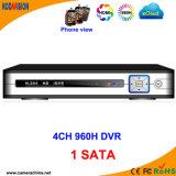 1SATA HD H. 264 Standalone 4CH Digital Video Recorder