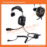 Noise Cancelling Single Earmuff Headphones with Detachable Cable for Two Way Radio