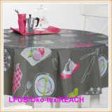 Waterproof /Oilproof PEVA Printed Tablecloth with Flannel Backing