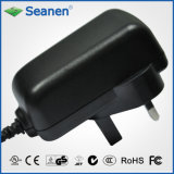 24watt/24W Power Adapter with UK Pin for Mobile Device, Set-Top-Box, Printer, ADSL, Audio & Video or Household Appliance