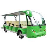 Electric Bus 14 Seater Sightseeing Tourist Bus with Roof (electric shuttle bus)
