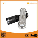 Mini 3W High Power Zoom Aluminum LED Torch (POPPAS- X1)