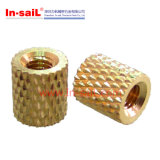 Knurled Brass Threaded Bushing for Plastic Case