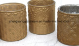 Fast Delivery Time Brown Embossed Candle Holder Cup