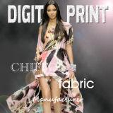 OEM 100% Silk Print Chiffon Fabric (YC119)