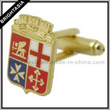 Quality Golden Cuff Link for Fashion Gift (BYH-10428)