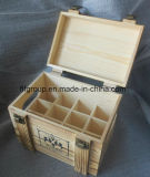 Rustic Finishing Customized Gift Packaging Box Wooden Box with Compartments