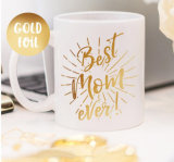 Customized Gold Foil Ceramic Cup Mug/Coffee Mugs for Promotion