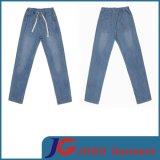 Leisure Style Women Sport Belt Jeans Relaxed Fit Jeans (JC1211)