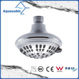 6 Fucntions 4 Inch ABS Chrome Plastic Bathroom Shower Head, Head Shower