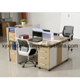 MDF Top Metal Table Leg Extensions Office Workstation Staff Desk (GT-P67--six person)