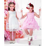 Girl Cotton Dress (6335#)