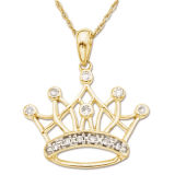 Best Seller Gold Dolphin Sterling Silver Metal Pendant with AAA CZ