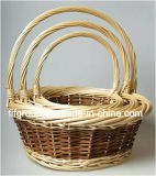 New Eco-Friendly Customized Willow Gift Fruit Basket in Different Shapes