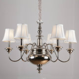 Home Decorative Iron Chandelier with Nickel Finish (SL2093-6)