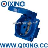 China Supplier IP44 16 AMP 250V Schuko Socket From Qixing Company