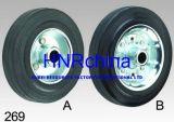 Black Rubber Wheel Heavy Duty Industrial Single Wheel