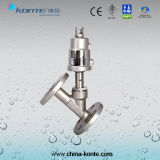 Stainless Steel Flanged Angle Seat Valve with CE Certificate