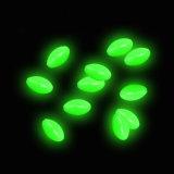 Glow in Dark Plastic Green Oval Luminous Fishing Beads