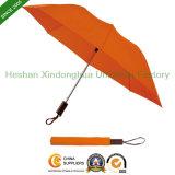 22 Inch Auto Open Manual Close Two Folding Umbrella (FU-3822Z)