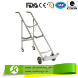 Stainless Steel Oxygen Cylinder Trolley with Double Feet