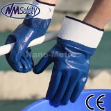 Nmsafety Jersey Shell Full Dipped Blue Nitrile NBR Heavy Duty Work Glove