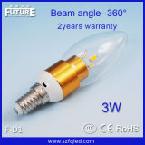 Hottest E27/E14 3W LED Candle Lamp with CE&RoHS Approved