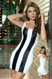 Black and White Stripe Clubwear (092)