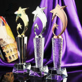 Factory Sell Good Quality Wholesale Custom Gold Plating Crystal Trophies Manufacturer