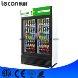 Double Glass Door Commercial Freezer Display/Refrigerator Freezer