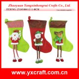 Christmas Decoration (ZY14Y484-1-2 -3) Christmas New Sock Product