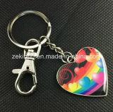 Custom Made Heart Shape Printing Metal Keychain