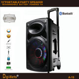 Ce/RoHS/FCC/UL Multimedia Karaoke Portable Speaker Trolley Bluetooth Amplifier DJ Speaker