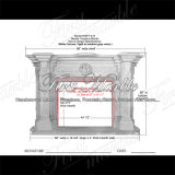 White Carrara Marble Fireplace for Decoration Mfp-475