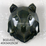 Modern Arts and Designs Antique Bronze Geo Bear Head for Wall Decor