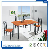 Free Sample 4 Seater Imitate Marble Sticker Top Dining Table Set/Dining Table and Chair