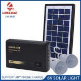 3W Rechargeable Emergency Solar System with 2 Bulbs Lighting