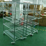 Industrial 5 Tiers NSF Chrome Steel SMT ESD Anti-Static Wire Storage Shelving Rack Cart Trolley