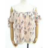 Factory Women Clothes latest Printed Design Ruffle Tank Top