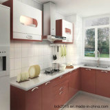 North-American Project Modular MDF Red and White Gloss Paint Kitchen Cabinets