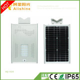 New 20W Energy Saving High Working Temperature Integrated LED Solar Street Light with Time Control for Garden