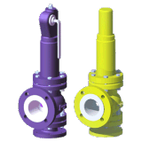 PTFE Lined Bellow Type Safety Relief Valve (WA42F)