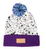 Custom Patch Winter Beanies Hat with Top Ball Custom Beanie Hat